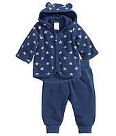 Детский флисовый комплект для мальчика  6-9 месяцев