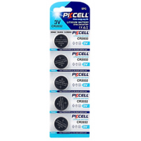Батарейка литиевая PKCELL CR2032, 5 шт в блистере, цена за блист.Q30