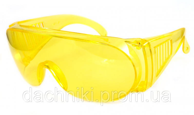 Очки защитные TRIARMA открытые /ET-30S Amber/, желтые линзы, фото 2