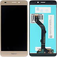 Дисплей (экран) для Huawei P8 Lite 2017,P9 Lite (2017)/Nova Lite (2016)/Honor 8 Lite + тачскрин, золотистый