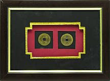 "Картина ""Две монеты"" (25х18 см)"