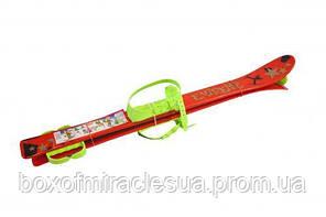 Лыжи (90см) красные, с рисунком L90R