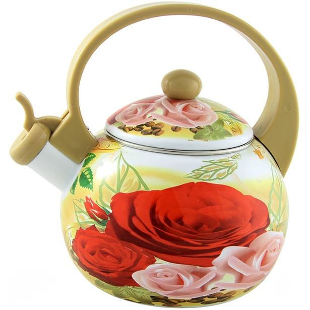 Чайник 2,5л эмалированный со свистком BH - 8143