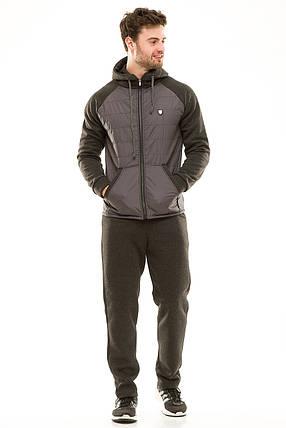 Костюм теплый мужской 451 темно-серый, фото 2