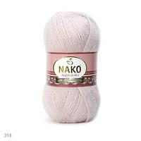 Пряжа Nako Angora Luks розовый