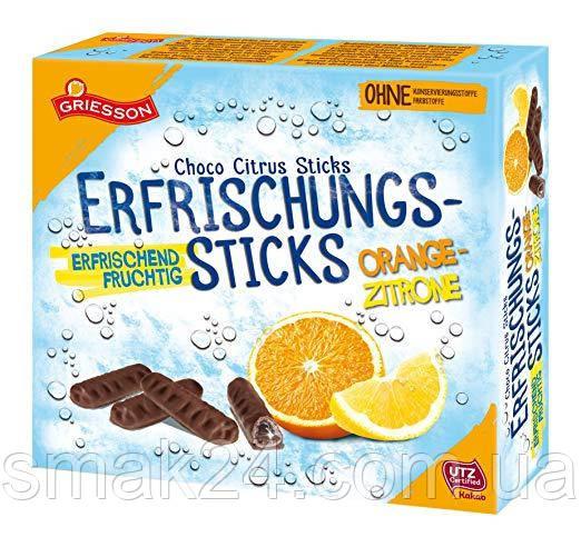 Шоколадные конфеты ( шоколадные палочки )  с апельсиново-лимонным соком внутри Griesson Германия 150г