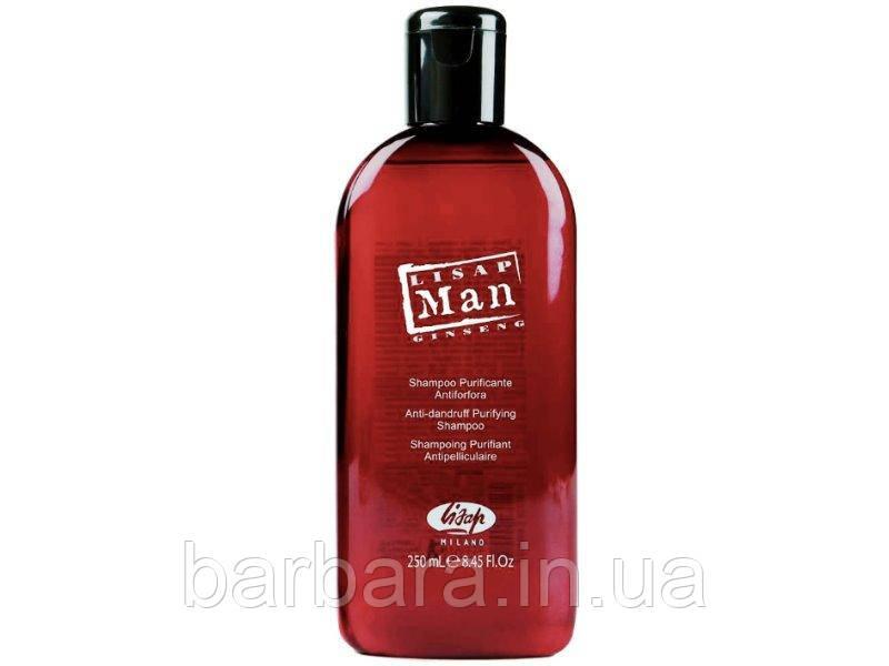 Шампунь проти лупи для чоловіків Lisap Man Anti-dandruff purifying shampo (250 мл)