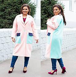 Дизайнерское женское пальто 03867