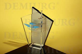 Корпоративный сувенир из акрила  с металлизированной пластиной
