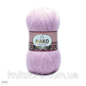 Пряжа Nako Angora Luks рожевий