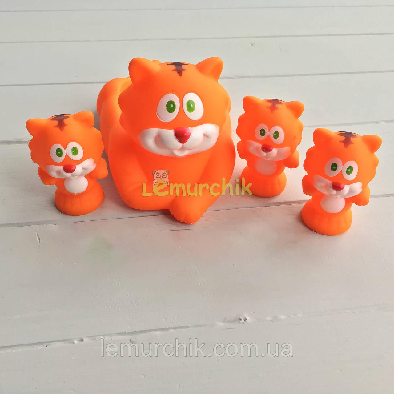 """Набор игрушек в ванночку 4 шт """"Тигры"""""""
