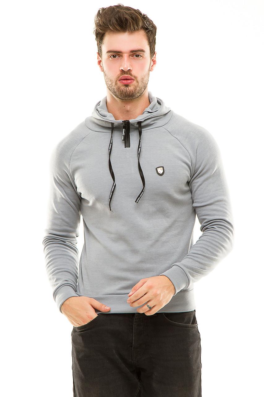 Реглан  с капюшоном 455 серый размер 50