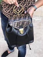 Модный женский рюкзак FENDI black and brown (реплика)