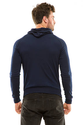 Реглан  с капюшоном 455 темно-синий, фото 2
