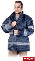 Куртка зимняя рабочая со светоотражающими полосами синяя Reis Польша (утепленная спецодежда рабочая) K-BLUE N