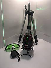 Лазерный уровень, нивелир Max MXNL 03 + штатив Зеленый Луч 50м, фото 2