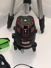 Лазерный уровень, нивелир Max MXNL 03 + штатив Зеленый Луч 50м, фото 3