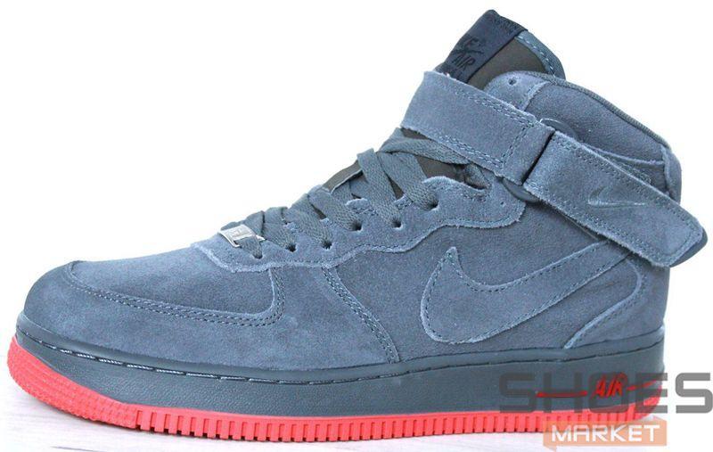 c2c141d9 Зимние мужские кроссовки Nike Air Force Suede Grey Mid Winter -  Интернет-магазин обуви и