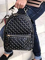 Женский Рюкзак Valentino Rockstud Spike черный (реплика), фото 1
