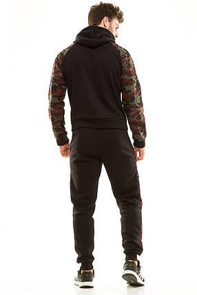 Костюм теплый мужской 456 черный, фото 2