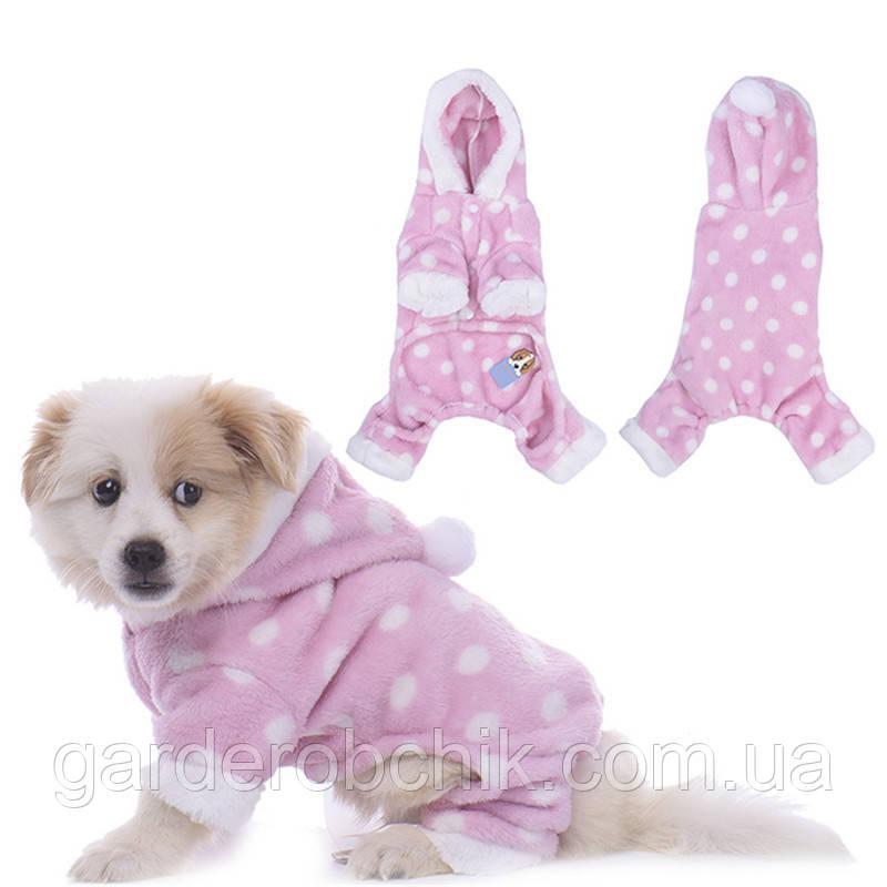 """Комбинезон, пижама плюшевая """"Зайка""""  для собаки, кошки. Одежда для собак"""