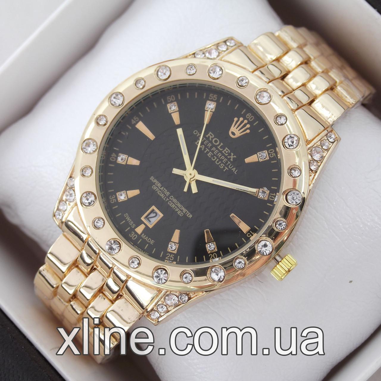 Жіночі наручні годинники Rolex A102-1 на металевому браслеті