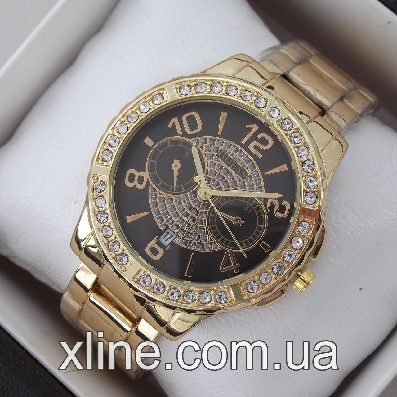 Жіночі наручні годинники Guess A47 на металевому браслеті