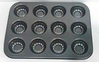 Форма Empire антипригарная для выпечки кексов 12 шт 350*260*30 мм