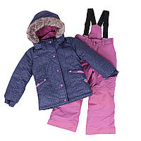Зимний термокостюм KIDS для девочки 3-8 лет (96-134 см) ТМ Peluche&Tartine Dk Heaven / Dust Lilac F18 M 62 EF, фото 1