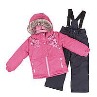 Зимний термокостюм KIDS для девочки 3-8 л. /96-134 см ТМ Peluche&Tartine Candy Berries / Deep Gray F18 M 64 EF, фото 1