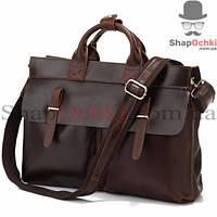 Сумка мужская Tiding Bag 7107R, кожа, темно-коричневая