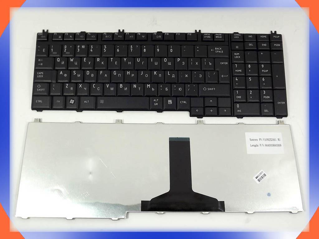 Клавиатура Toshiba Satellite L350 (RU Black глянцевая). Русская. Чёрна