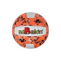 """Мяч волейбольный """"miBalon"""" (оранжевый), диаметр 21 см F21947"""