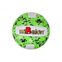 """Мяч волейбольный """"miBalon"""" (зелёный), диаметр 21 см F21947"""