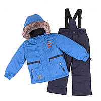 Зимний термокостюм KIDS для мальчика 3-8 лет (96-134 см) ТМ Peluche&Tartine Sport Blue / Navy F18 M 53 EG, фото 1