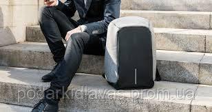 Рюкзак противандальный Бобби, городской, со встроенным USB портом.