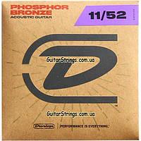 Струны Dunlop DAP1152 Acoustic Phosphor Bronze 11-52, фото 1