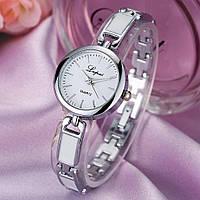 Женские часы Lupai серебряные с белым, жіночий наручний годинник, наручные часы на браслете