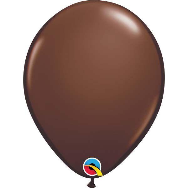 """Воздушные шары QUALATEX пастель шоколадный 11"""" (28 см) 100 шт"""