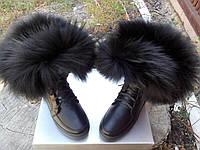 Ботинки  женские натуральная кожа мех енот, фото 1