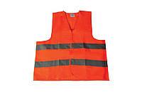 Жилет со светоотражающей лентой оранжевый XL Master Tools 83-0002