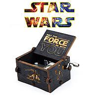 Музыкальная шкатулка  Звездные войны Star Wars черная