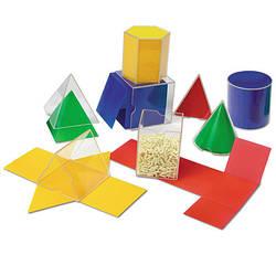 Набір геометричних фігур з розгорткою (8 шт) Learning Resources
