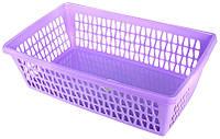 Корзина для хранения «Велетта» прямоугольная фиолетовая  34х21х10см С713 ФІОЛ, фото 1