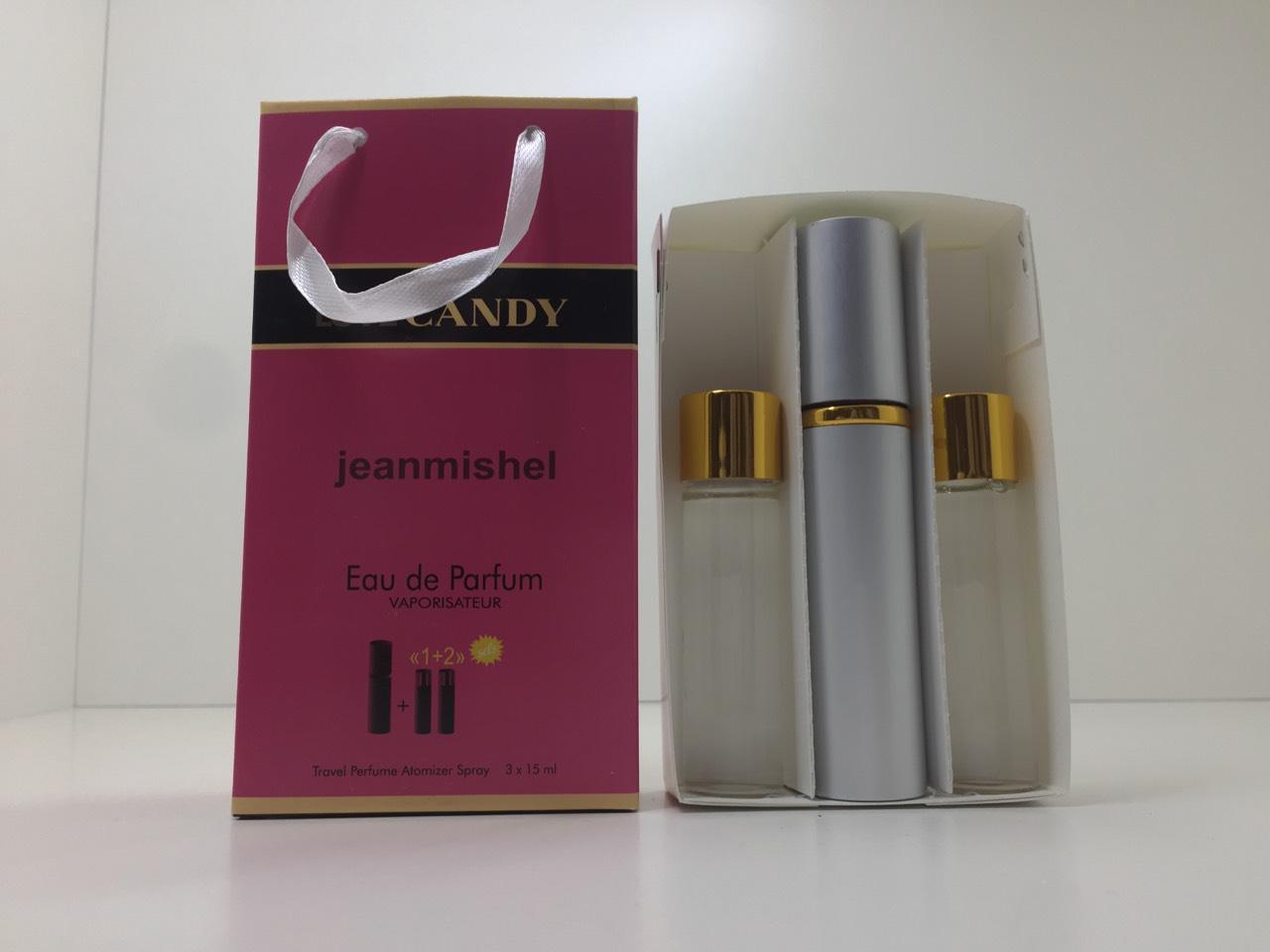 Подарунковий набір парфумів Jeanmishel Candy (Жанмишель Кенді) 3 по 15 мл