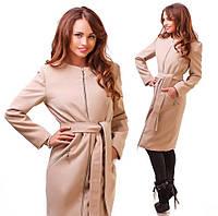 Кашемировое пальто на молнии 42-46