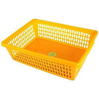 Корзина для хранения «Велетта» прямоугольная оранжевая  34х21х10см С713 ОРЖ, фото 1