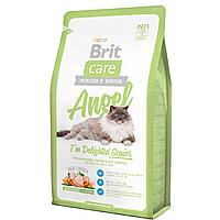 Корм Brit Care Cat Angel I am Delighted Senior для пожилых кошек, 2 кг