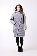 Стильное пальто для полных девушек 48-64