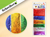 Блестки для декоративных работ в пакетиках (3 гр), 6 цветов на картонной подложке NEW